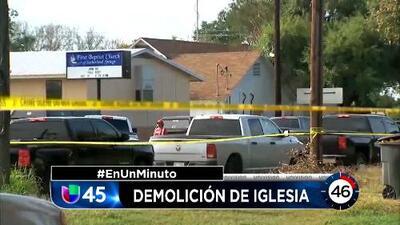 En Un Minuto Houston: El pastor de la iglesia donde ocurrió la masacre dijo que planean demoler la estructura