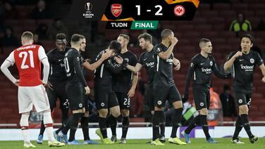 Arsenal pospone clasificación por derrota ante Eintracht Frankfurt