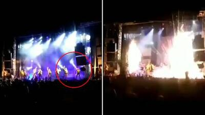 Imágenes fuertes: bailarina muere en España tras estallarle una pieza de pirotecnia en el estómago
