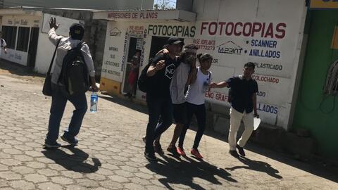 Varios heridos en Nicaragua durante protestas contra la reforma de la Seguridad Social
