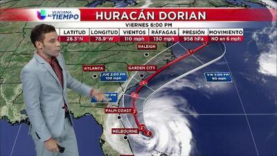 Huracán Dorian continúa desplazándose hacia las Carolinas