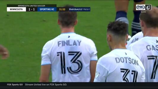 Feo descuido del Sporting KC y Finlay lo empató