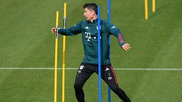 ¡Alista su regreso! Lewandowski ya entrena con balón en el Bayern