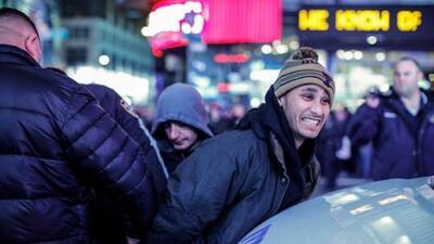 Arrestos y caos durante jornada de protestas en Nueva York