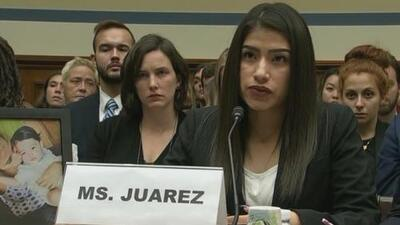 """""""Vi a mi niña morir lenta y muy dolorosamente"""": una madre denuncia en el Congreso la """"negligencia"""" con que ICE atendió a su bebé enferma"""