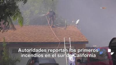 Autoridades reportan los primeros incendios en el sur de California