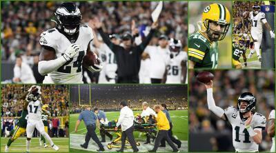 En fotos: el triunfo de los Philadelphia Eagles sobre los Packers