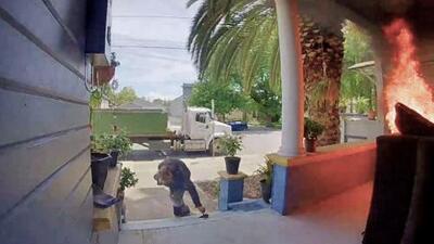 En video: así comenzó el voraz incendio en una vivienda de San José