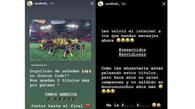 Nico Castillo reaccionó por burlas tras derrota de América
