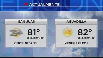 Nubes y lluvia para San Juan este jueves