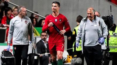 Ya salió el parte médico sobre la lesión de Cristiano Ronaldo