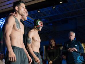 'Goyito' Pérez y 'DJ' Fuentes comandaron el pesaje del Combate Américas en Monterrey