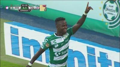 ¡Santos empata el partido y la Máquina sufre!
