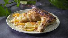Pollo a la lima en el horno