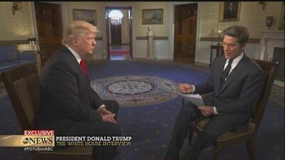 Nueve engaños y mentiras de la primera entrevista televisada del presidente Trump