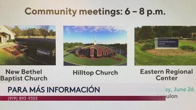 Reuniones para informar a la comunidad sobre contaminación del agua