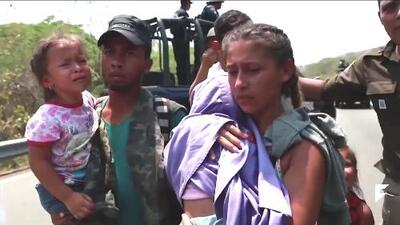 Large raid on a new migrant caravan in Mexico