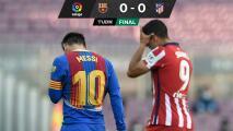 ¡Se les va LaLiga! Atlético y Barcelona empatan sin goles