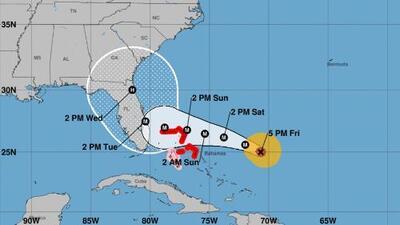 Las tres posibles rutas del huracán Dorian, según modelos meteorológicos