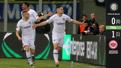 Con un gol tempranero, el Eintracht dio la sorpresa y eliminó al Inter de Milán