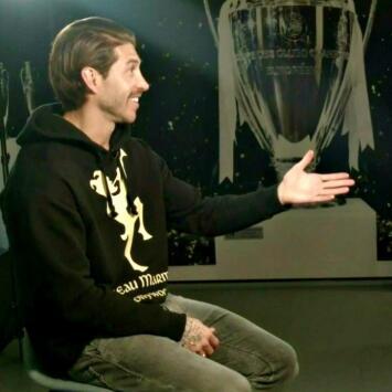 Sergio Ramos al frente de uno de sus ídolos: Iván el 'Bam-Bam' Zamorano