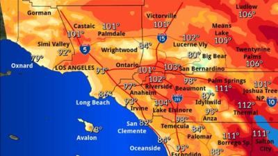 Se mantiene la alerta por calor, humedad y malas condiciones del aire en el sur de California