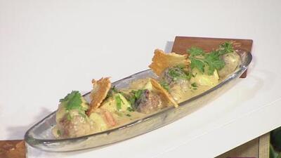 La Receta: Gnocchi de yuca con albóndigas de longaniza