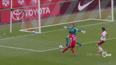 Canadá aprovecha un error defensivo de México y anota el 2-0