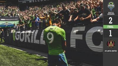 Raúl Ruidíaz se lleva todos los aplausos y Seattle se lleva los tres puntos ante Atlanta United
