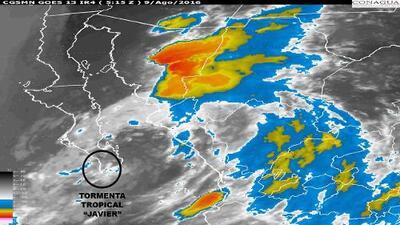 La tormenta tropical Javier se acerca a Baja California debilitada aunque dejará fuertes lluvias