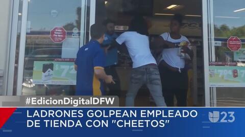 """Pareja logra robarse varias bolsas de """"cheetos"""" de una tienda"""