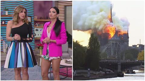 Lili Estefan y Zuleyka Rivera, impactadas por el voraz incendio en la catedral de Notre Dame de París