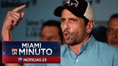 'Miami en un Minuto': Opositor venezolano Henrique Capriles se retira de la MUD