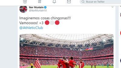 "Un vasco muy mexa: Muniain del Athletic, como CH14, ""imaginemos cosas ch*ngonas"""