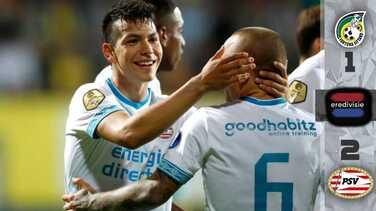 ¡Golpeado y todo! El 'Chucky' vuelve a marcar, ahora de 'taquito', en triunfo del PSV