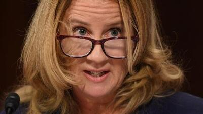The expert in the room: Dr Blasey Ford is both victim and her own psychologist