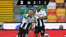 Udinese sorprendió a la Juventus y no lo dejó celebrar el título