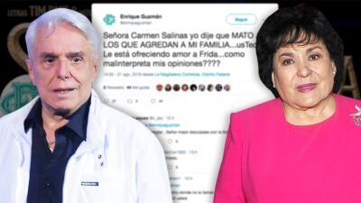 """""""Mato a los que agredan a mi familia"""": Enrique Guzmán aclara su amenaza a Carmen Salinas"""