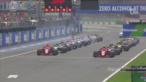 Así fue el arranque en el Gran Premio de Italia
