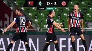 El Frankfurt ganó fuera de casa y complica mas al Bremen