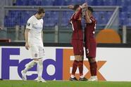 AS Roma 3-0 Cluj   Mjitaryán (1') adelantó muy pronto a los locales. Ibáñez da Silva (24') y Broja Mayoral (34') completaron la goleada. El cuadro italiano lidera el Grupo A con siete puntos, mientras que los rumanos se quedan con cuatro.