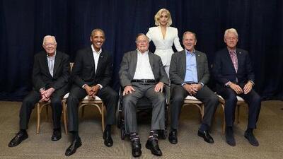 Lady Gaga une a los 5 expresidentes vivos de EEUU por una buena causa