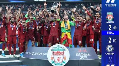 En dramáticos penales: Liverpool conquistó su cuarta Supercopa de la UEFA