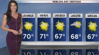 Fuertes vientos y cielo nublado en California para este martes