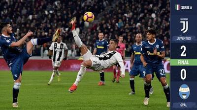 ¡Imparables! Cristiano y Mandzukic postergan el invicto de la Juve en Serie A