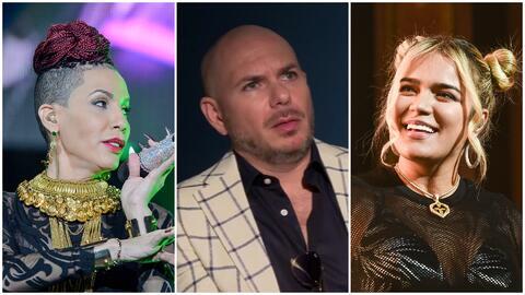 Pitbull se suma a la controversia por quién es la 'Reina del reggaeton': ¿Ivy Queen o Karol G?