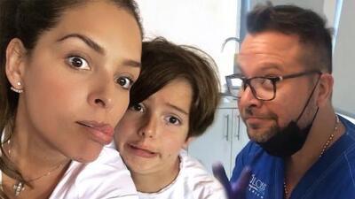 """El hijo de Grettell Valdez y Pato Borghetti se dejó sacar dos muelas de leche con """"cero dramas"""""""