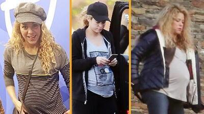 ¡Shakira no puede más con su panza de embarazada!