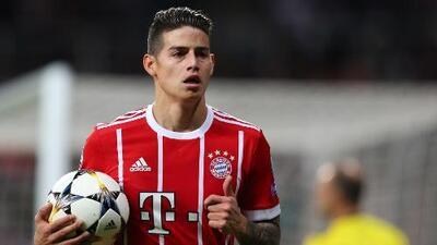 Las estadísticas no mienten: así va el año de James Rodríguez con el Bayern Múnich