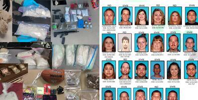 Duro golpe a la actividad criminal de la zona: 102 detenidos y miles de dólares en droga incautada